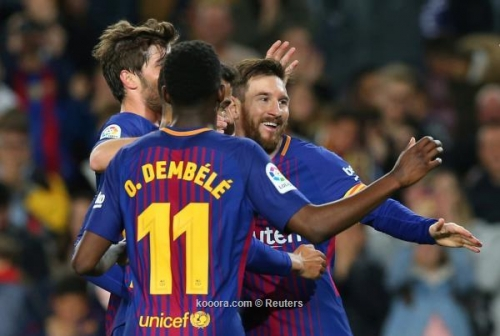 بالصور.. هاتريك ميسي يقود برشلونة للفوز على ليجانيس