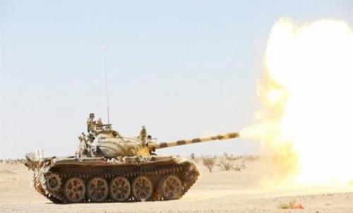 الجيش الوطني يدمِّر مواقع عدة لتجمعات مليشيا الحوثي غرب مأرب