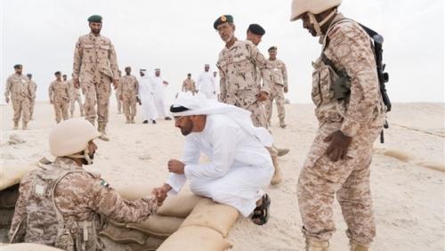 الشيخ محمد بن زايد يشهد ختام فعاليات التمرين العسكري «حماة الوطن 2»