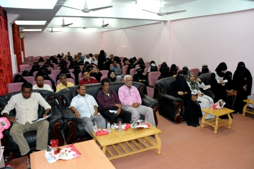 شؤون الطلاب بجامعة عدن تكرم المشاركين في الدورة التدريبية الخاصة باستخدام الحاسب الآلي