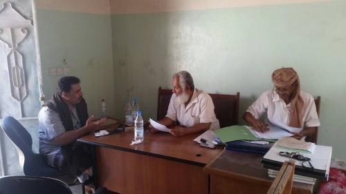 لحج : مدير عام المسيمير يلتقي رئيس المحكمة الابتدائية
