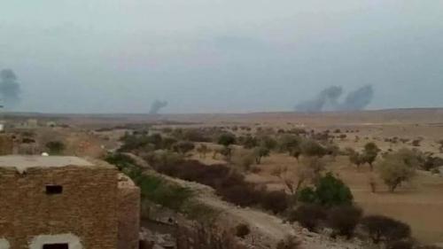 غارات مكثفة على مواقع لتنظيم القاعدة الإرهابي بوادي حضرموت