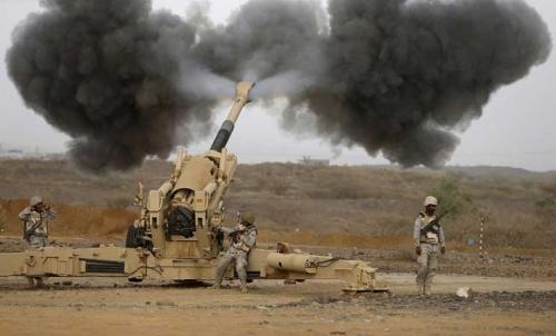 مدفعية الجيش الوطني تدك مواقع المليشيا في صرواح