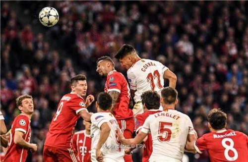 بالصور: بايرن ميونخ يتأهل لنصف النهائي بتعادل سلبي مع إشبيلية
