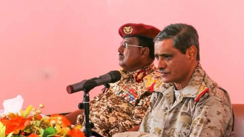 البحسني يلتقي قيادات المنطقة العسكرية الثانية للتحضير للذكرى الثانية لتحرير ساحل حضرموت