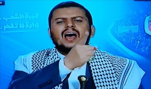"""ظهور جديد ومفاجئ لـ""""عبدالملك الحوثي : من لم يقاتل معنا فهو ديوث"""