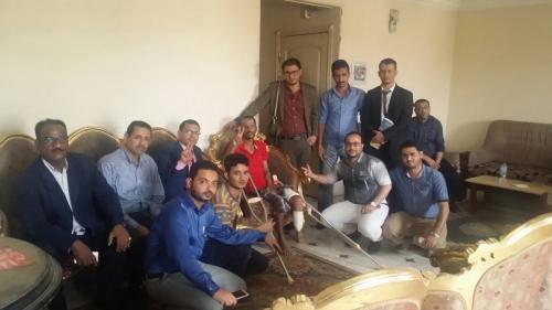 الهيئة القيادية لملتقى ابناء الجنوب تزور العديد من الجرحى الجنوبيين في مصر