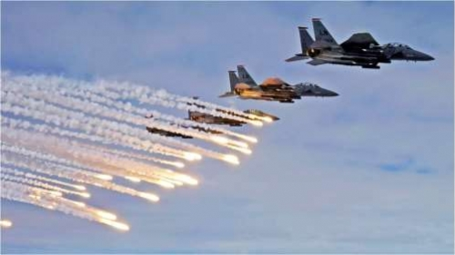 التحالف يستهدف معمل حوثي لتطوير الصواريخ في الجراحي