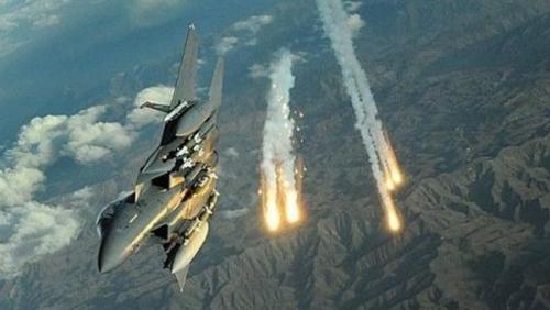 البيضاء :طيران التحالف العربي يستهدف موقع عمليات جماعة الحوثي العسكرية