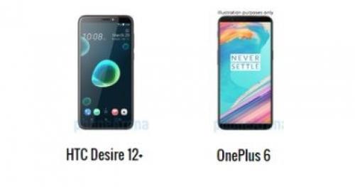 أبرز الاختلافات بين هاتفى OnePlus 6 و HTC Desire 12+
