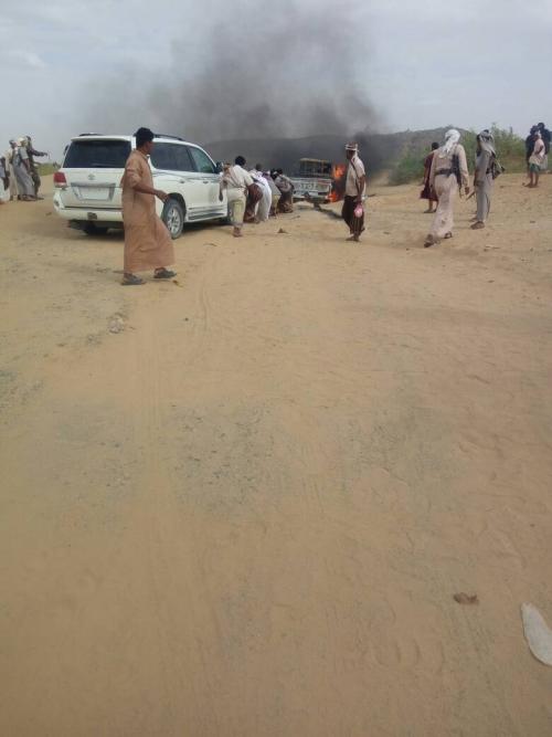 شبوة : انفجار لغم يودي بحياة 4 من آل باحارث في عسيلان