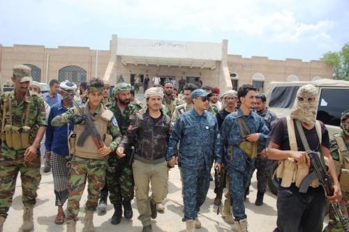 بتكليف من قوات التحالف.. قيادات دعم وإسناد تزور الضالع لتفقد سير عمل الحزام الأمني بالمحافظة
