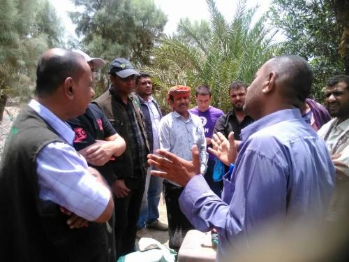 مدير عام مضاربة لحج يلتقي مدير منظمة أكفسام والداعم البريطاني لمشاريع المياه