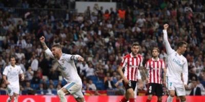 بالصور: كعب رونالدو ينقذ ريال مدريد من السقوط أمام بيلباو