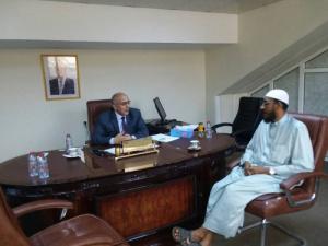 فتح يبحث مع ممثل هيئة الإغاثة الكويتية تنفيذ مشاريع جديدة