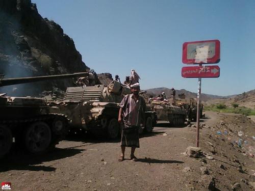 قوات الجيش  تحرر مواقع متفرقة في المعافر غربي تعز