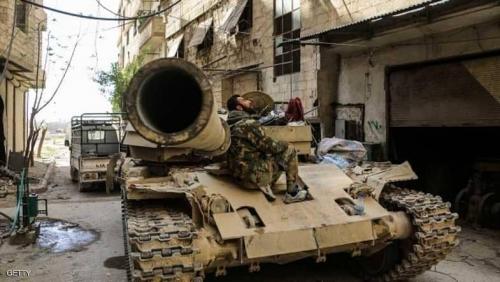 استمرار قصف آخر جيب لداعش في دمشق