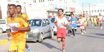 إتحاد العاب القوى بساحل حضرموت يقيم سباق مارثون الطريق بالمكلا بمناسبة الذكرى الثانية للتحرير