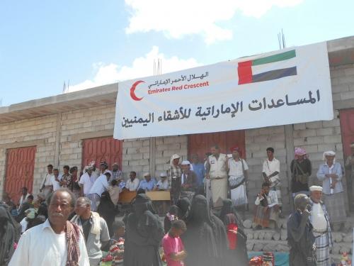 حملة جديدة لفريق الهلال الأحمر الإماراتي لإغاثة سكان الساحل الغربي