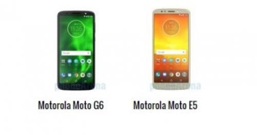 تعرف على أبرز الاختلافات بين هاتفي موتورولا Moto E5 و Moto G6