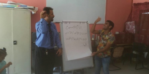مؤسسة رموز للصم بعدن تدشن لغة الإشارة بمكتب التربية والتعليم بالشيخ عثمان