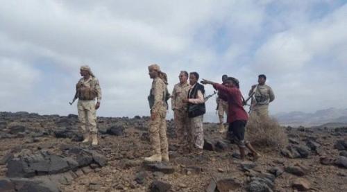 قوات اللواء الخامس دعم واسناد الجنوبية تتقدم صوب جبل القاهر شمال شرق الراهدة