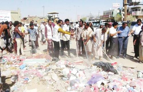 بعد سنوات عجاف وسط أكوام القمامة هيئة الهلال الأحمر الإماراتية تعيد الوجه المشرف لعاصمة شبوة