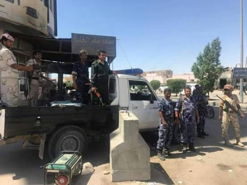 حملة مرورية موسعة  بمدينة الغيضة