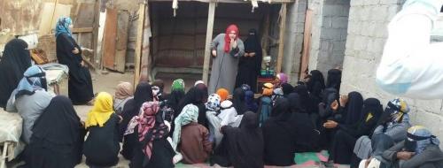 """قادة عدن للتنمية تنظم حملة توعوية عن """" العنف الاسري """" في دار سعد بعدن"""
