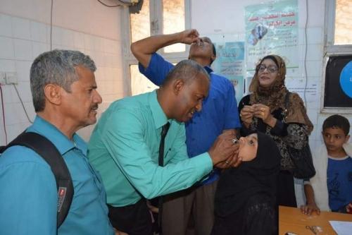 مدير صيرة يدشن حملة التحصين ضد مرض الكوليرا في المديرية