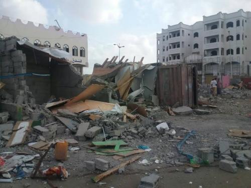 وزارة الداخلية تشيد بالقوات الأمنية المشاركة في حملة إزالة العشوائيات في العاصمة عدن