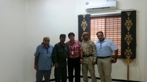 مدير أمن عدن يلتقي بوفد منظمة الصحة العالمية