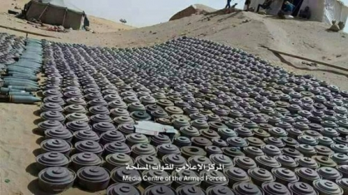 الفرق الهندسية بمحافظة لحج تعثر على 210 ألغام مضادة للدبابات