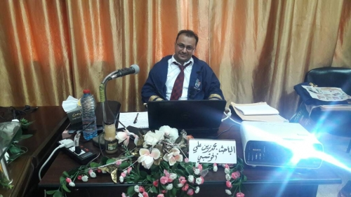 الماجستير بامتياز للباحث محمد زين الحوشبي من جامعة عدن