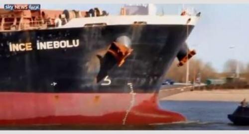 التحالف يكشف تفاصيل إنفجار السفينة التركية قبالة الحديدة