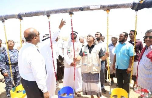 الإمارات تغيث «ميون» وتفتتح منتزهاً في حضرموت