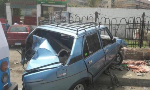 حادث تصادم على الخط السريع بدار سعد يوقع مصابين