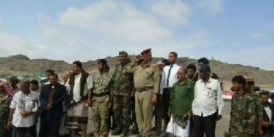 لحج : افتتاح معسكر قوات الحزام الأمني قطاع المسيمير