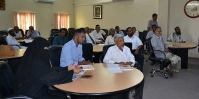 دورة تدريبية بعنوان ( مواصفات المقرر الدراسي ) لأعضاء هيئة التدريس ومساعديهم بكلية الآداب جامعة حضرموت