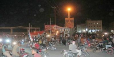 مسيرة تجوب شوار سيئون احتفالًا بالذكرى الأولى لتأسيس المجلس_الانتـقالي.