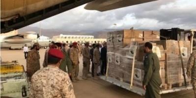 بالصور: طائرتان من مركز الملك سلمان للإغاثة تصلان سقطرى
