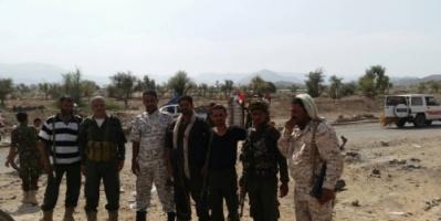 قائد القطاع الرابع بالحزام الأمني يتفقد النقاط الأمنية بالضالع