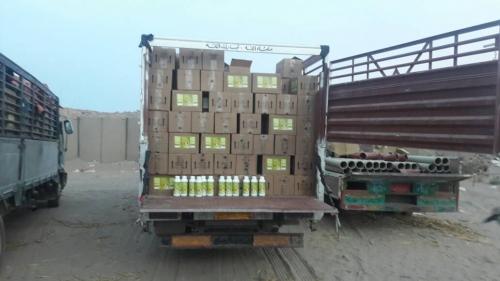 صور.. مبيدات سامة وسجائر مهربة في قبضة قوات الحزام الأمني بلحج