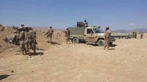 الجيش يقترب من استكمال تحرير مديرية الملاجم في البيضاء