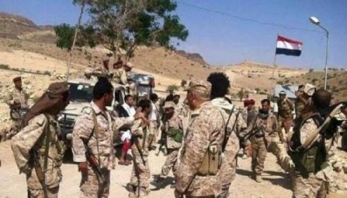 الجيش الوطني والتحالف العربى يقطعان طريق