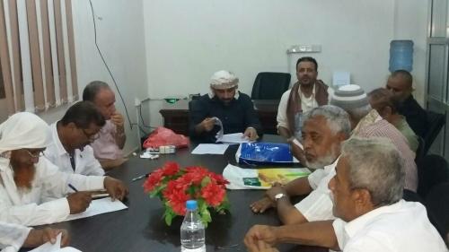 مدير الشيخ عثمان يجتمع باللجان الاساسية ويعلن تشكيل واشهار اللجان الفرعية الميدانية في المديرية