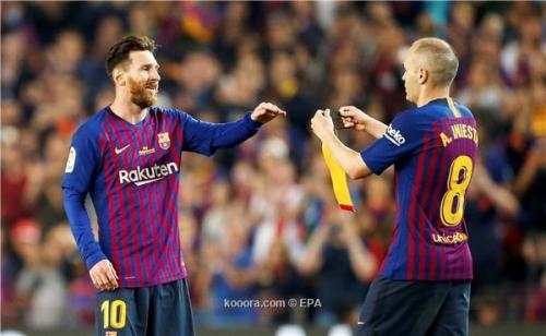 بالصور: برشلونة يودع إنييستا بالفوز على ريال سوسييداد