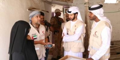 تغطية مصورة.. هيئة الهلال الأحمر الإماراتي تتبنّى مشروعا جديدا لإعادة بناء وترميم منازل في حضرموت