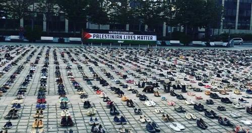 نصب تذكاري في بروكسيل يخلد 4500 شهيد فلسطيني