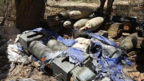 قوات الشرعية تعثر على صواريخ حوثية بصعدة